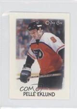 1987-88 O-Pee-Chee Leaders Mini #9 Pelle Eklund Philadelphia Flyers Hockey Card