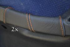 Accoppiamenti Fiat Stilo Pelle 2x PORTA MANIGLIA copre cuciture color arancio
