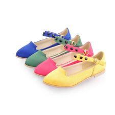 bailarinas mocasines zapatos cómodo rosa amarilla azul verde como piel 9733