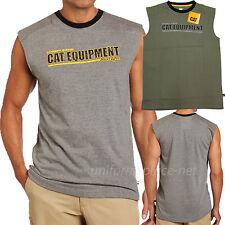 Caterpillar T shirt Mens Power Lifter Sleeveless  Tee T Shirts Cotton 1510165