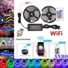 ❤ 5M 10M Smart Wifi RGB LED 5050 Streifen Stripe APP für Echo Alexa Google Home