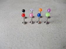 Pack of 8 Lip/Tragus Bars,Uv Ball Ends,chose 4mm,6mm,8mm,10mm,12mm,14mm, 1.2/1.6