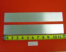 "2 Pieces 3/8"" X 2"" ALUMINUM 6061 FLAT BAR 12"" long T6511 .375 Plate Mill Stock"