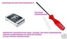 Nintendo DS & DS lite Reparatur Sicherungen Tri Wing Schraubendreher