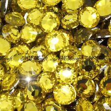 Yellow Gold 1000pcs Resin RhinestonesBeads Flat Back Nail Art Craft Gems
