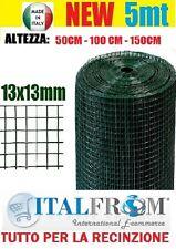 5mt RETE METALLICA PLASTIFICATA ELETTROSALDATA12X12 RECINZIONE GABBIE CONIGLI