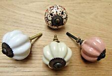 ZUCCA in ceramica-Vintage Armadietto Armadio Cassetto petto Manopole Maniglie Pull
