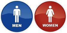 """Restroom Bathroom Toilet Men Women Vinyl Sticker Decal Business Sign 5""""x5"""" 9""""x9"""""""