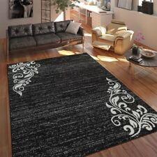 Tappeto Soggiorno Moderno A Pelo Corto Variopinto Motivo Floreale Ornamento Nero