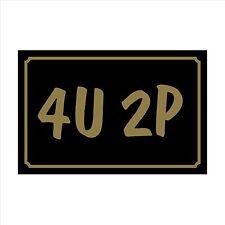Da 4U 2P - 160mm x 105mm in plastica segno / Adesivo-Casa, Giardino, PET