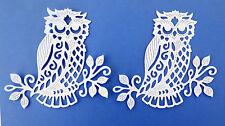 Owl Intricate Large Paper Die Cuts Cardstock 2 pc Scrapbook Embellishemnts