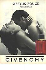 PUBLICITE 1996   GIVENCHY parfum XERYUS pour homme