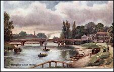 Vintage Postcard ~1910/20 England Great Britain Hampton Court Bridge Brücke AK