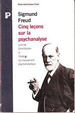 FREUD * cinq Leçons de Psychanalyse * petite bibliothèque Payot