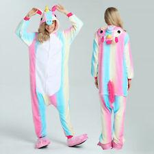 NEW Rainbow Unicorn Tenma Unisex Adult Kigurumi Pajamas Animal Cosplay Sleepwear