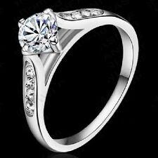 Bague de fiançailles blanc anneau alliance ÉLÉGANT OR BLANC -coloré Plaqué