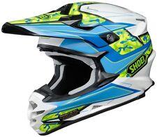 NEW SHOEI VFX-W HELMET TURMOIL TC2 BLUE/WHITE/YELLOW MOTOCROSS MX MOTORCYCLE BMX