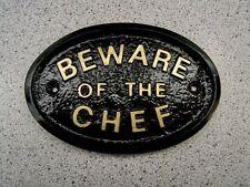 BEWARE OF THE CHEF - KITCHEN COOK HOUSE DOOR PLAQUE SIGN MENU