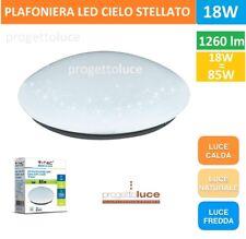 PLAFONIERA LAMPADA LED 18W FORMA CIRCOLARE EFFETTO CIELO STELLATO V-TAC VT-8063