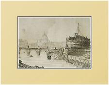 ROMA:CASTEL SANT'ANGELO ROME=Passepartout=Artaud.1835.