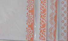 Bordo Decorativo Bianco Carte-pesca inserts-app 8x8in PK / Acido Libero / Sole / Bianco