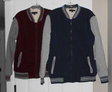 Ring of Fire Baseball Jacket Navy/ Gray or Maroon/ Gray M or XL NWT