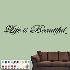 """""""la vita è bella"""" muro autoadesivo - In Vinile Arte Citazione Decalcomania-PAROLE D'AMORE"""