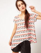 Sass & Bide White Sass Bide Aztec Pima Cotton T-shirt