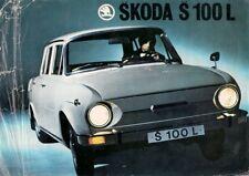 Skoda S100 L Saloon 1971 UK Market Leaflet Sales Brochure