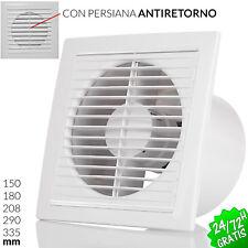 EXTRACTOR de AIRE ASEO COCINA 150mm a 335mm con persianas antiretorno Ventilador