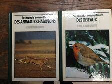 Lot de 2 livres sur le monde merveilleux des animaux