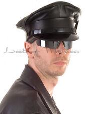 Leather uniform cap hat police cop