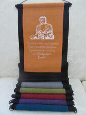Inspirational Balinese affirmation wall hanging banner Buddha Success -6 colours