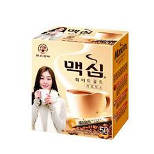 Korean Instant Coffee Mix Maxim White Gold 50, 100 Stick