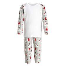 Snowman Print Personalised Christmas Pyjamas PJs Kids Baby's 1st Custom Text