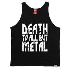 MORTE a tutti, ma in metallo UNI Giubbotto Pesante in Acciaio Punk Rock Regalo Di Compleanno Divertente