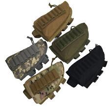Tactical Military Hunting Rifle Shotgun Stock Ammo Pouch Holder Cheek Pad