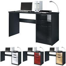 Table d'ordinateur de travail Bureau informatique Logan Noir - Coloris divers