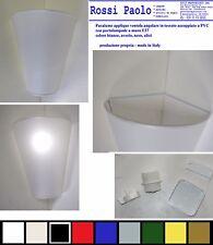 Lampada parete applique angolare a muro paralume cono rovescio - made in Italy