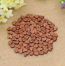 Mini Wooden Wood Heart Table Decoration Wedding Craft Cutout Scatter Scrapbook