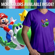 Cute Yoshi Luma Star Mens Women Unisex Tee T-Shirt Super Mario Galaxy Nintendo