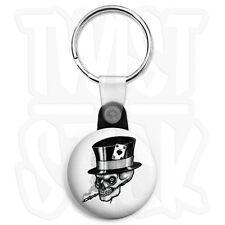 Ace of Spades - Smoking Skull - 25mm Biker Keyring Button Badge, Zip Pull Option