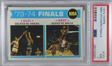 1974-75 Topps #163 '73-74 Finals PSA 7 NM Chicago Bulls Boston Celtics Card