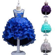 Girls Kids Toddler Baby Princess Party Ruffle Dress Pageant Wedding Tutu Dresses