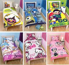 Kinder Charakter Disney Einzel Doppel Bettdecke Bezüge Kinder Bettwäsche Set Neu
