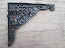 "6"" Antique Cast Iron Vintage Retro Fancy Style Shelf Support Book Fancy Bracket"