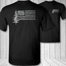Forester US Flag T-Shirt - american forestry shirt  park forest ranger tee shirt