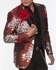 Angelino Men's Fashion Blazer Sport Coat Peacock Red/White