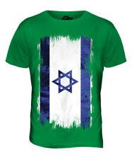 ISRAEL GRUNGE FLAG MENS T-SHIRT TEE TOP YISRAEL ISRAELI ISR?'?L SHIRT FOOTBALL