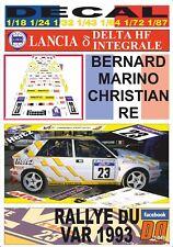 DECAL LANCIA DELTA HF INTEGRALE B. MARINO R. DU VAR 1993 (03)